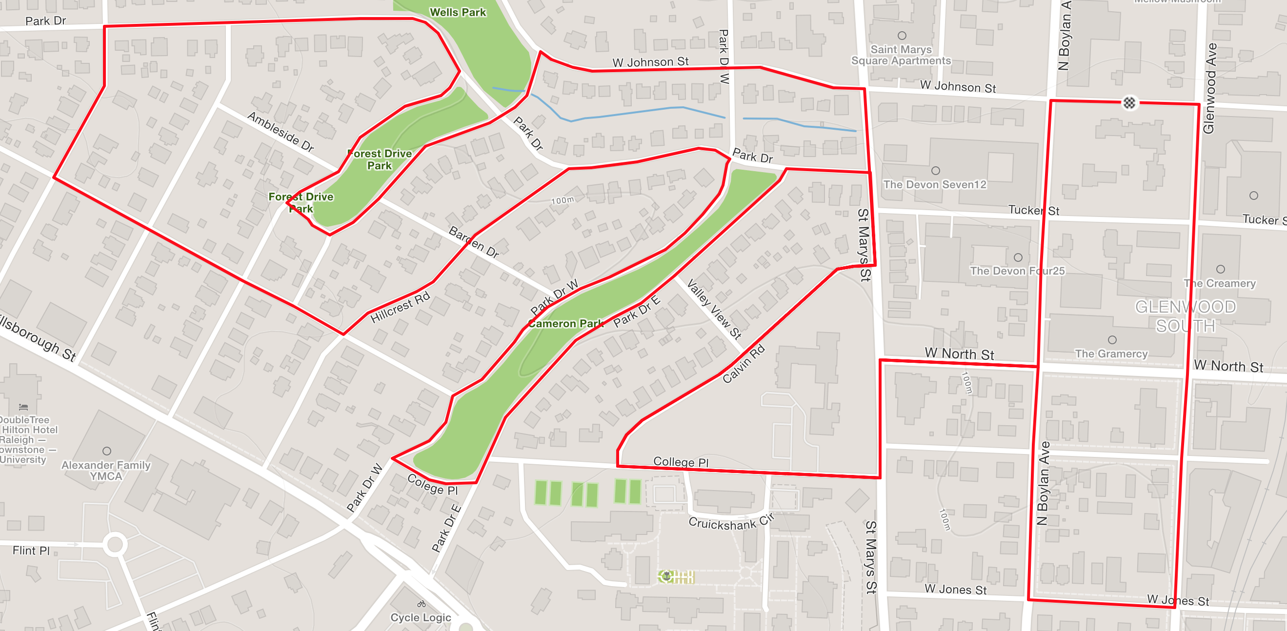 St. Paddy's 4 Miler route